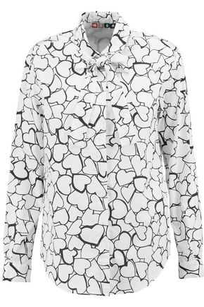 MSGM Printed cotton-poplin shirt