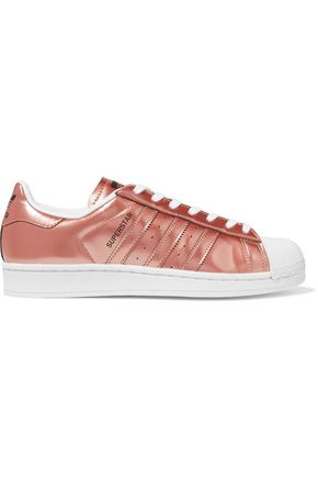 ADIDAS ORIGINALS Superstar mirrored-leather sneakers