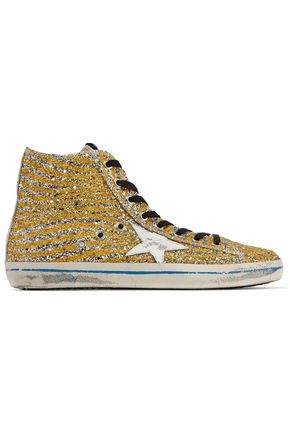 GOLDEN GOOSE DELUXE BRAND Glittered leather sneakers