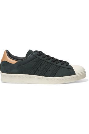 ADIDAS ORIGINALS Superstar paneled suede sneakers
