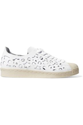 ADIDAS Superstar laser-cut leather sneakers