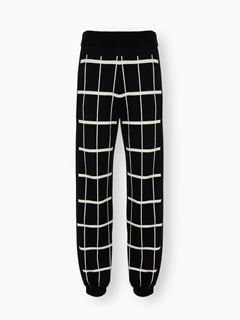 Loose check pants