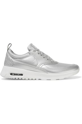 NIKE Air Max Thea metallic faux leather sneakers