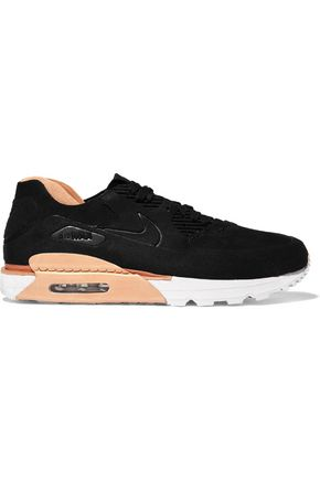NIKE Air Max 90 Royal suede and leather sneakers