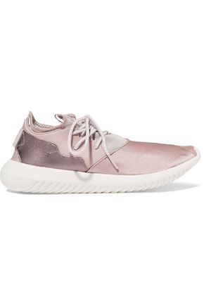 ADIDAS ORIGINALS Tubular Entrap neoprene, mesh and textured-leather sneakers