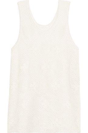CHLOÉ Crocheted cotton-blend top