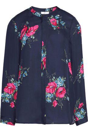 JOIE Devitri floral-print silk crepe de chine shirt