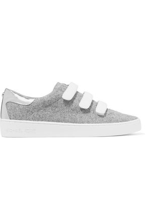 MICHAEL MICHAEL KORS Leather-trimmed felt trainers