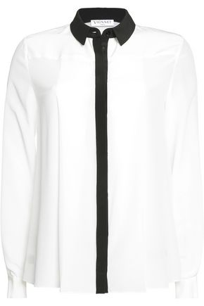 VIONNET Two-tone silk shirt