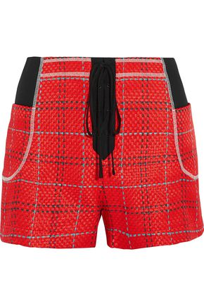 3.1 PHILLIP LIM Skirt-effect jacquard shorts