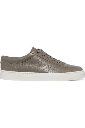 VINCE. Afton textured-leather sneakers