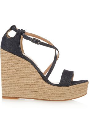 TABITHA SIMMONS Jenny denim espadrille wedge sandals