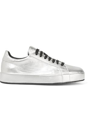 JIL SANDER Metallic leather sneakers