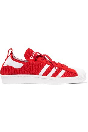 ADIDAS ORIGINALS Superstar two-tone knitted sneakers