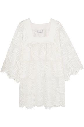 MIGUELINA Belen scalloped silk-lace mini dress