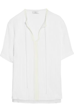 SANDRO Paris Elissa cotton-blend top