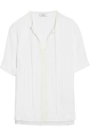 SANDRO Elissa cotton-blend top