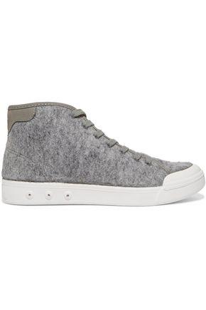 RAG & BONE Wool-felt high-top sneakers