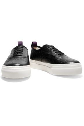 EYTYS Ostrich-effect leather sneakers