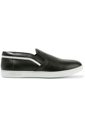 SERGIO ROSSI Tribute leather slip-on sneakers