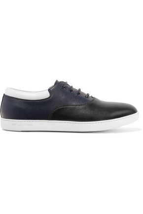 SERGIO ROSSI Tribute color-block leather sneakers