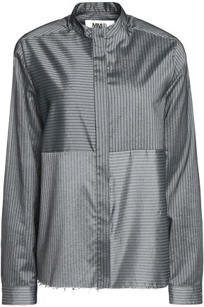 MM6 MAISON MARGIELA Striped satin-twill shirt
