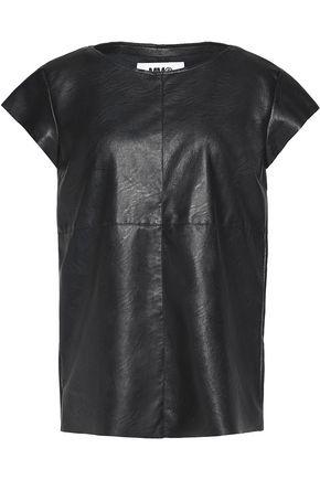 MM6 MAISON MARGIELA Coated faux leather top