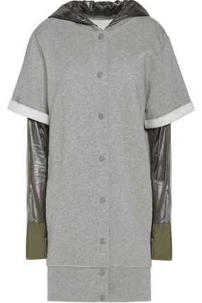 MM6 MAISON MARGIELA Shell-trimmed cotton-jersey hooded top