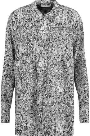 IRO Headow pleated printed crepe de chine blouse