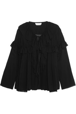 CHLOÉ Ruffled crepe top