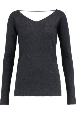BRUNELLO CUCINELLI Metallic cashmere and silk-blend top