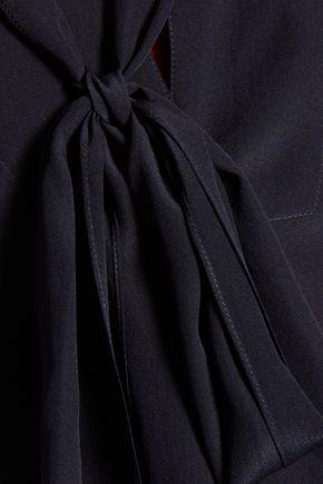 CHLOÉ Pussy-bow silk-cady blouse