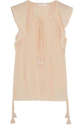 CHLOÉ Tassel-trimmed silk blouse