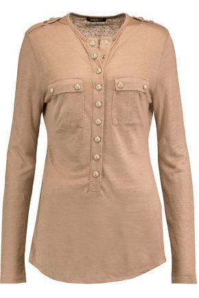 BALMAIN Linen-blend top