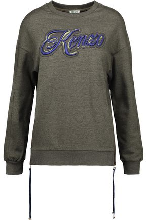 KENZO Kenzo Lyrics appliquéd French cotton-terry sweatshirt
