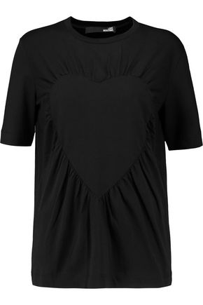 LOVE MOSCHINO Gathered cotton and modal-blend top