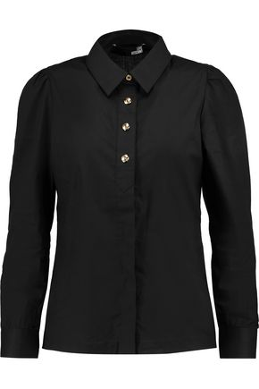 LOVE MOSCHINO Cotton-blend voile shirt