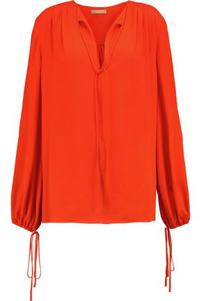 MICHAEL KORS COLLECTION Silk-chiffon blouse