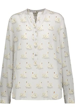 STELLA McCARTNEY Eva printed silk crepe de chine top