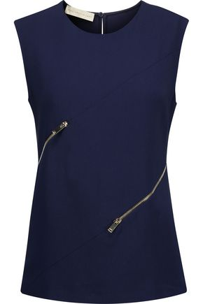 STELLA McCARTNEY Wilma zip-detailed crepe top