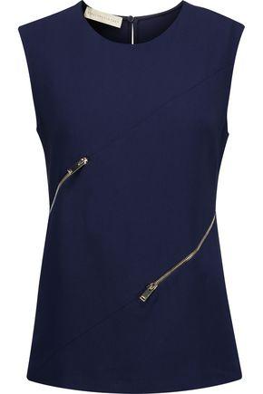 STELLA McCARTNEY Wilma zip-detailed crepe top