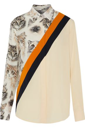 STELLA McCARTNEY Odette printed silk crepe de chine top