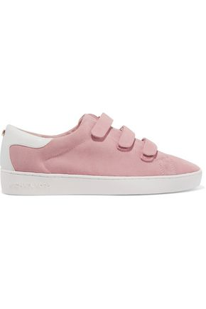 MICHAEL MICHAEL KORS Craig leather-paneled suede sneakers