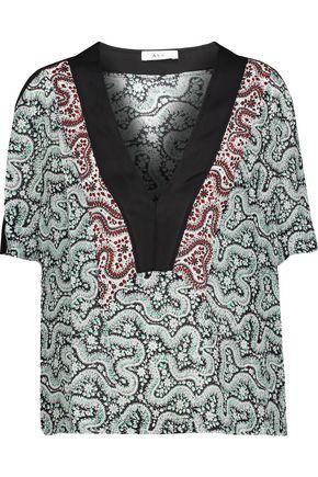 A.L.C. Lilias printed silk crepe de chine top