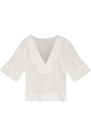 A.L.C. Virginia crocheted cotton top