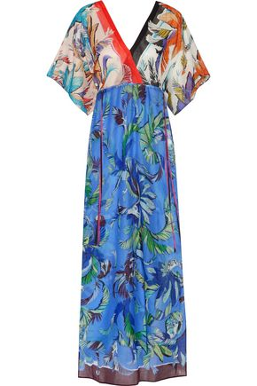 EMILIO PUCCI Wrap-effect printed cotton-voile kaftan