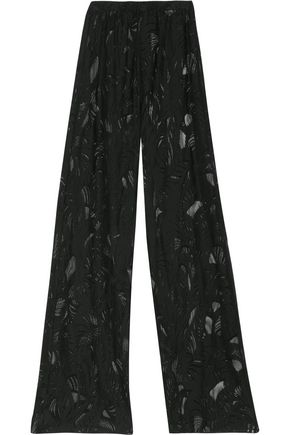 EMILIO PUCCI Cotton-blend jacquard wide-leg pants