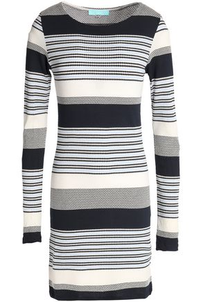 MELISSA ODABASH Striped knitted coverup