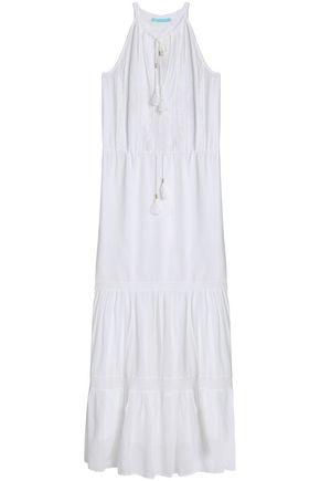 MELISSA ODABASH Crochet-trimmed voile maxi dress
