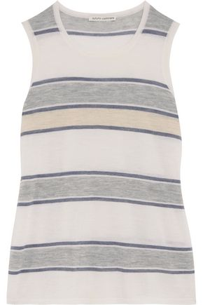 AUTUMN CASHMERE Striped cashmere tank